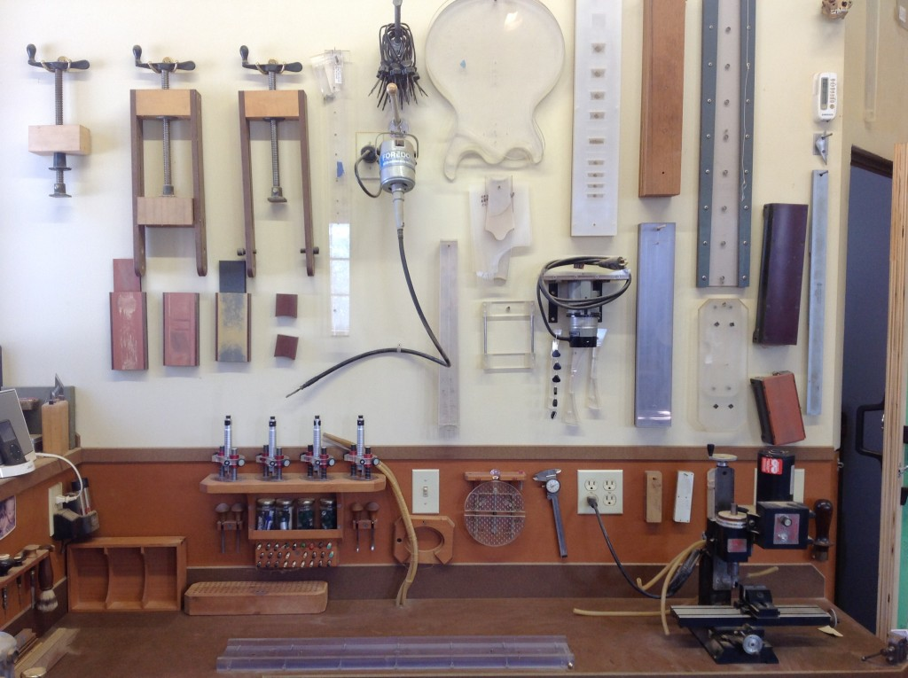 Tools to Build a Custom Guitar at Rick Maguire's Shop