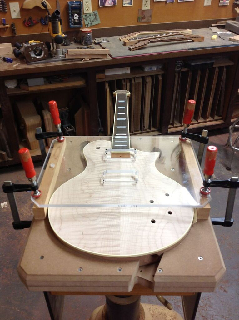 Building custom electric guitars tone woods pickups cavities are routed st53 maxwellsz